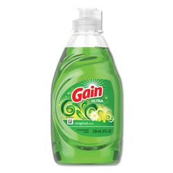 Gain Ultra Dishwashing Liquid, Original Scent, 8 oz. Bottle, 18/Case