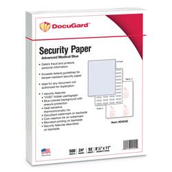 Paris Business Forms Medical Security Papers, 24lb, 8.5 x 11, Blue, 500/Ream