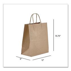 Prime Time Packaging Kraft Paper Bags, Regal, 12 x 9 x 15.75, Natural, 200/Carton