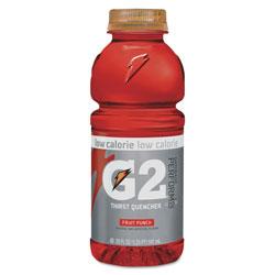 Gatorade G2 Perform 02 Low-Calorie Thirst Quencher, Fruit Punch, 20 oz Bottle, 24/Carton