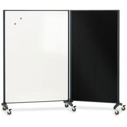 Quartet® Motion Marker & Bulletin Room Divider, 6 ft. x 3 ft.