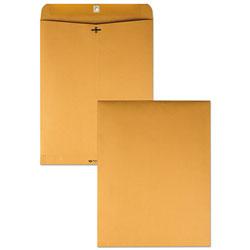 Quality Park Clasp Envelope, #110, Cheese Blade Flap, Clasp/Gummed Closure, 12 x 15.5, Brown Kraft, 100/Box