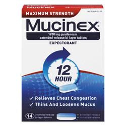 Mucinex Maximum Strength Expectorant, 14 Tablets/Box