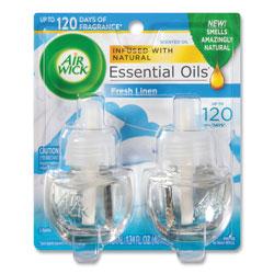 Air Wick Scented Oil Refill,F/Warner,0.67Oz,2/Pk,Linen,Cl