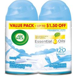 Air Wick Freshmatic Ultra Spray Refill, Fresh Linen, Aerosol, 6.17 oz, 2/Pack