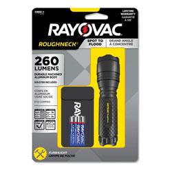 Rayovac LED Aluminum Flashlight, 3 AAA Batteries (Included), Black
