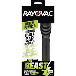 Rayovac Flashlight, 2000 Lumens, Lithium-Powered, Black