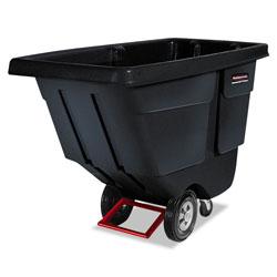 Rubbermaid Rotomolded Tilt Truck, Rectangular, Plastic, 850 lb Capacity, Black