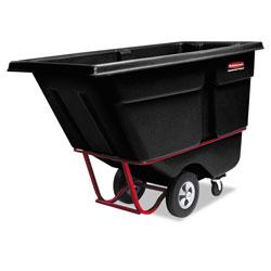 Rubbermaid Commercial Rotomolded Tilt Truck, Rectangular, Plastic, 1,250 lb Capacity, Black