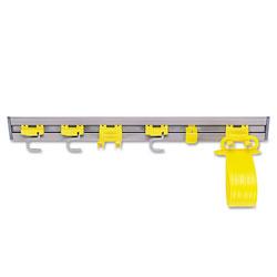 Rubbermaid Closet Organizer/Tool Holder, 34w x 3.25d x 4.25h, Gray