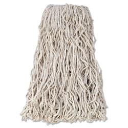 Rubbermaid Economy Cut-End Cotton Wet Mop Head, 24oz, 1 in Band, White, 12/Carton