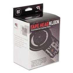 Read Right/Advantus Tape Head Kleen Pad, Individually Sealed Pads, 5 x 5, 80/Box