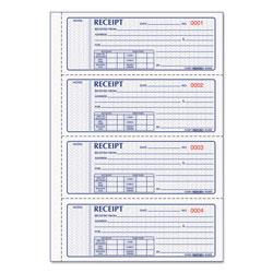 Rediform Money Receipt Book, 7 x 2 3/4, Carbonless Triplicate, 100 Sets