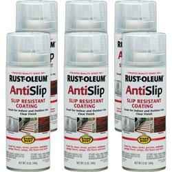 Rust-Oleum Anti Slip Spray, Slip Resistant Coating, 12 oz, 6/CT, Clear