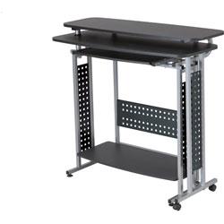 Safco Standing Desk, Box 2/2, 47-1/4 inx20 inx43-1/4 in, Black