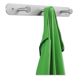 Safco Nail Head Wall Coat Rack, Three Hooks, Metal, 18w x 2.75d x 2h, Satin