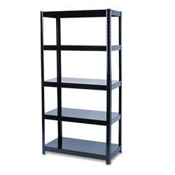 Safco Boltless Steel Shelving, Five-Shelf, 36w x 18d x 72h, Black