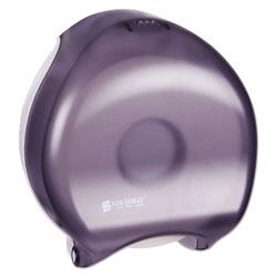 San Jamar Single-Roll Jumbo Bath Tissue Dispenser, 10 1/4 x 5 5/8 x 12, Black Pearl