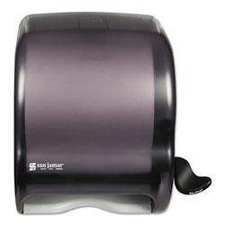 San Jamar Element Lever Roll Towel Dispenser, Classic, Black, 12 1/2 x 8 1/2 x 12 3/4