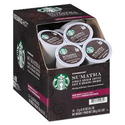 Starbucks Sumatra Coffee K-Cups, Sumatran, K-Cup, 24/Box