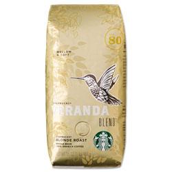 Starbucks Veranda Blend Coffee, Light Roast, Whole Bean, 1 lb Bag