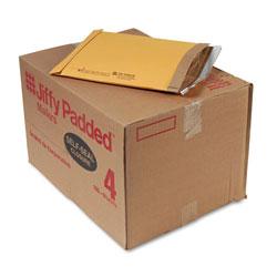 Sealed Air Jiffy Padded Mailer, #4, Paper Lining, Self-Adhesive Closure, 9.5 x 14.5, Natural Kraft, 100/Carton