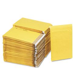 Sealed Air Jiffy Padded Mailer, #5, Paper Lining, Self-Adhesive Closure, 10.5 x 16, Natural Kraft, 100/Carton