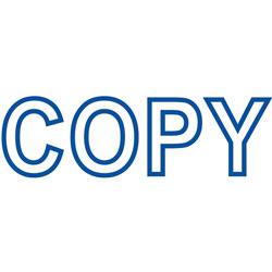"Shachihata. U.S.A. Copy Ink Stamp, 1/2""x1 5/8"", Blue"