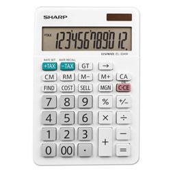 Sharp EL-334W Large Desktop Calculator, 12-Digit LCD
