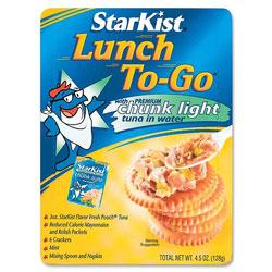 Starkist Lunch To-Go Kit, 3oz. Chunk Light Tuna, 4.5 oz Packs, 9/CT