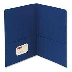 Smead Two-Pocket Folder, Textured Paper, Dark Blue, 25/Box