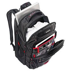 Samsonite Tectonic PFT Backpack, 13 x 9 x 19, Black/Red