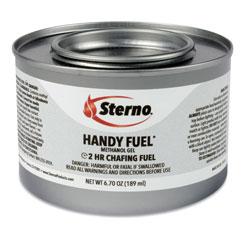 Sterno Handy Fuel Methanol Gel Chafing Fuel, 6.7 oz, Two-Hour Burn, 72/Carton
