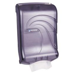 San Jamar Ultrafold Multifold/C-Fold Towel Dispenser, Oceans, Black, 11 3/4 x 6 1/4 x 18