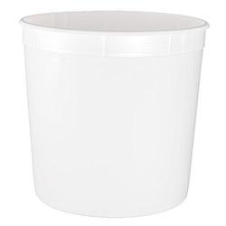 Berry Plastics 1.25 Gal White Round Container