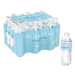 True Clear® Purified Bottled Water, 16.9 oz Bottle, 24 Bottles/Carton