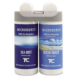 Rubbermaid Microburst Duet Refills, Sea Mist/Ocean Breeze, 3 oz, 4/Carton