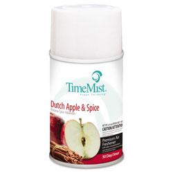 Timemist Premium Metered Air Freshener Refill, Dutch Apple & Spice, 6.6 oz Aerosol, 12/CT