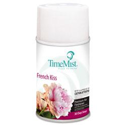Timemist Premium Metered Air Freshener Refill, French Kiss, 6.6 oz Aerosol, 12/Carton