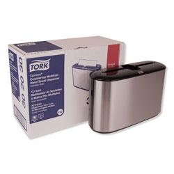 Tork Xpress Countertop Towel Dispenser, 12.68 x 4.56 x 7.92, Stainless Steel/Black