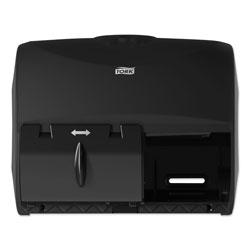 Tork Twin Bath Tissue Roll Dispenser for OptiCore, 11.06 x 7.18 x 8.81, Black