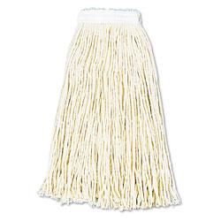 Boardwalk Premium Cut-End Wet Mop Heads, Cotton, 16oz, White, 12/Carton