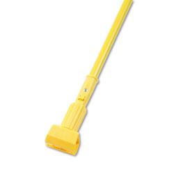 Boardwalk Plastic Jaws Mop Handle for 5 Wide Mop Heads, 60 in Aluminum Handle, Yellow
