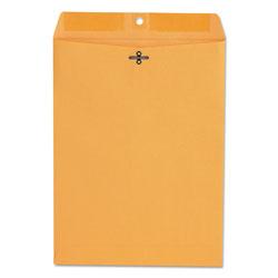 Universal Office Products Kraft Clasp Envelope, #90, Square Flap, Clasp/Gummed Closure, 9 x 12, Brown Kraft, 100/Box