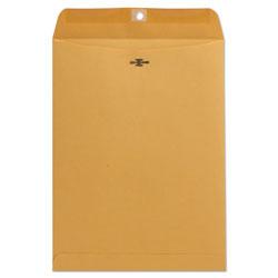 Universal Office Products Kraft Clasp Envelope, #10 1/2, Square Flap, Clasp/Gummed Closure, 9 x 12, Brown Kraft, 100/Box