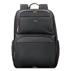 Solo Urban Backpack, 17.3 in, 12 1/2 in x 8 1/2 in x 18 1/2 in, Black