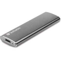 Verbatim External SSD, w/USB Cables, 500MB/s, 480GB, Silver