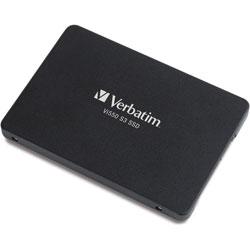 Verbatim Internal SSD, 2.5 in, 560MB/s Read/535MB/s Write, 256GB, Black