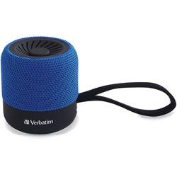 Verbatim Portable Bluetooth Speaker System - Blue - 100 Hz to 20 kHz - TrueWireless Stereo - Battery Rechargeable - 1 Pack