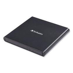 Verbatim External Slimline CD/DVD Writer, 8X DVD Write Speed/24X CD Write Speed